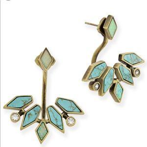 Kendra Scott Collette Earrings Turquoise & Brass